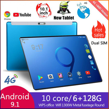 2021 Ten Core 6G+128GB Andriod 9.0 10 Inches tablet  Dual SIM 4G Phone Tablet PC WIFI 6G RAM+64/128G ROM Tablet GPS Phone Pad