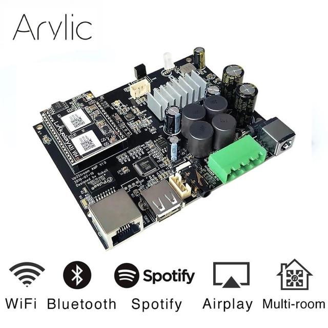 $ US $62.10 Up2stream WiFi and Bluetooth5.0 HiFi Stereo Class D digital multiroom audio amplifier board 2.0 with Spotify Airplay Equalizer