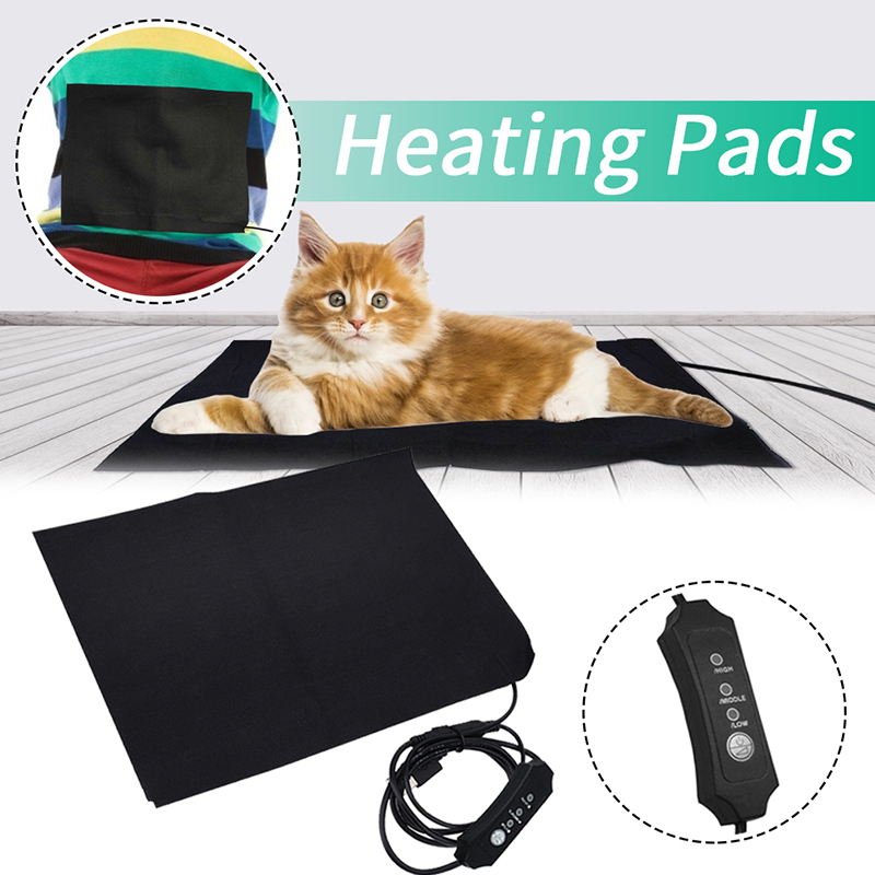 5V USB Electric Pet Heated Pad Dog Cat Winter Warm Mat Carpet For Animals Pet Plush Bed Blanket Heater Carpet Heating Pad