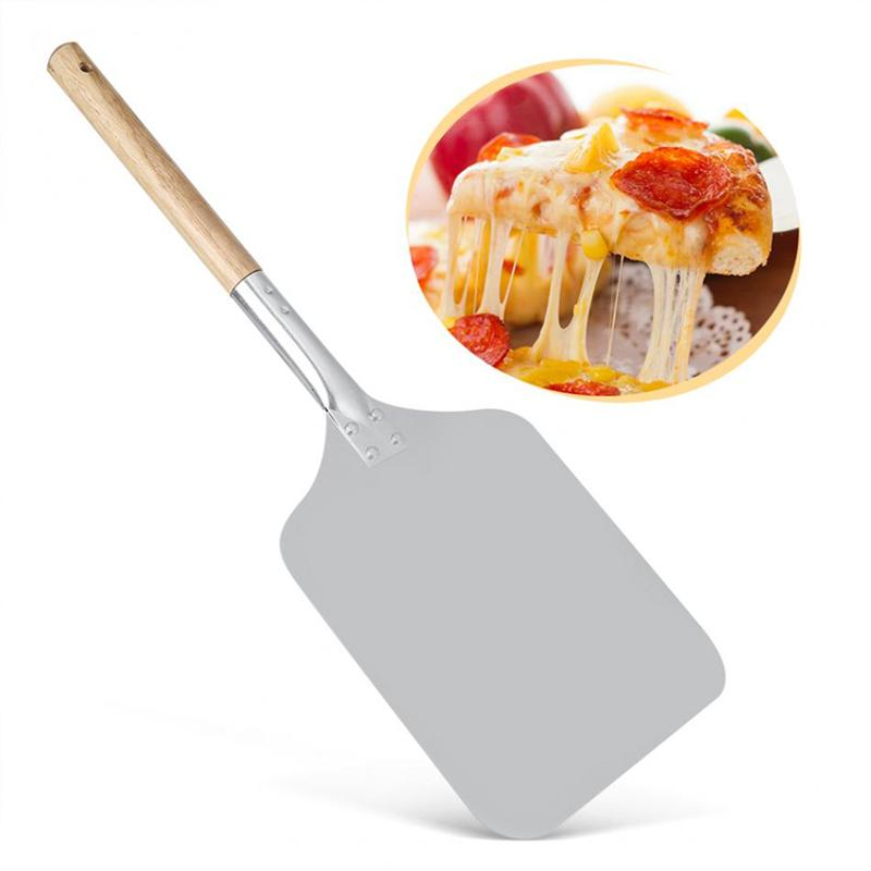 Pizza Shovel With Long Wooden Handle-Baking Home Kitchen Tool
