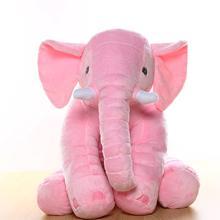 40/60/80cm almofada de elefante macio para o bebê dormir brinquedos de pelúcia de pelúcia bonecas animais de pelúcia gigante elefante brinquedos infantil apoio traseiro