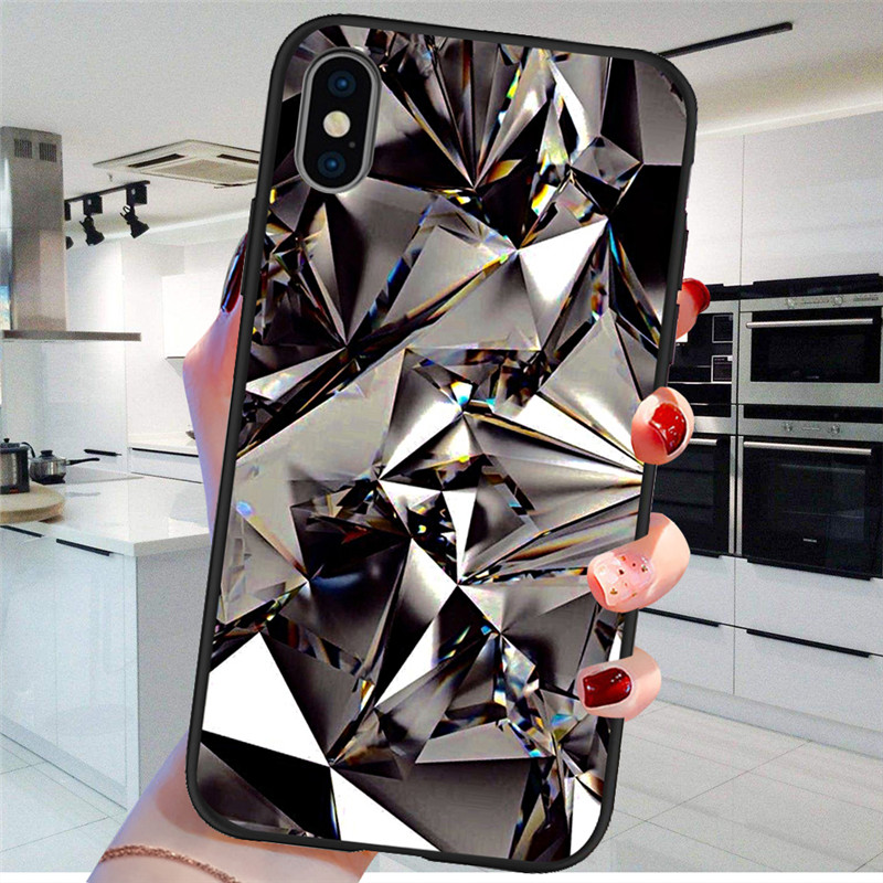 bling Marble For iPhone X XR XS Max 5 5S SE 6 6S 7 8 Plus Oneplus 5T Pro 6T phone Case Cover Funda Coque silicone soft tpu etui