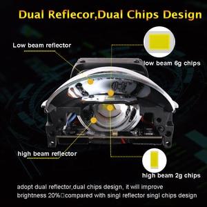 Image 2 - SANVI 2PC 3 Cal samochód Bi obiektyw LED projektora reflektor 55w 5500K Auto Ice lampa akcesoria do świateł samochodowych reflektor motocyklowy