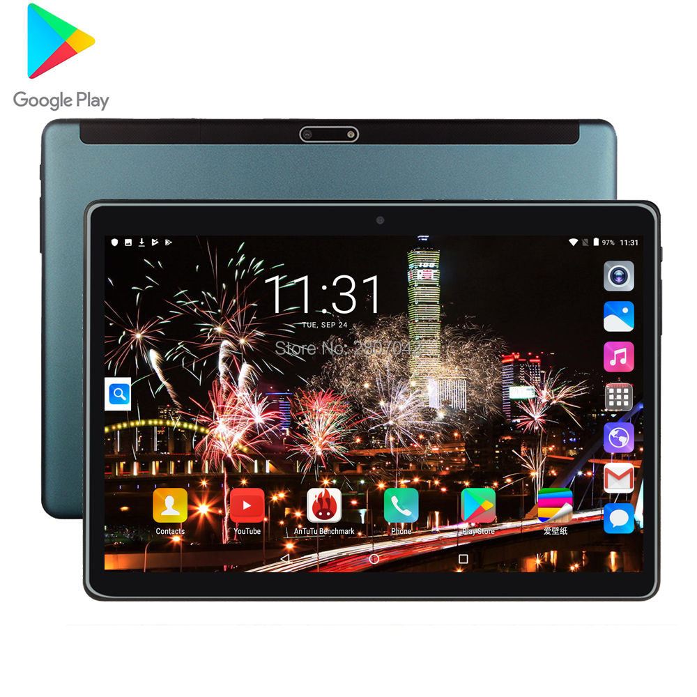 Free Shipping Android 9.0 Tablet PC Tab Pad 10 Inch IPS Quad Core 2G+32GB ROM Dual SIM Card LTD Phone Call 10.1