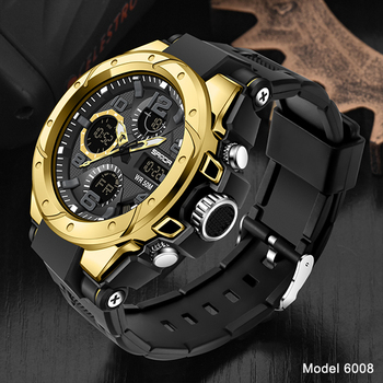 SANDA Top Luxury Watches Men Military Army Mens Watch Waterproof Sport Wristwatch Dual Display Watch Male Relogio Masculino 18
