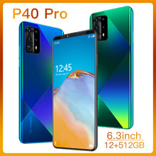 P40 Pro 6,3 zoll Entriegelte Smartphone 4G 5G 16MP + 32MP 12GB + 512GB 5000mAh handys Telefones Globale Version Celulares Cellpho