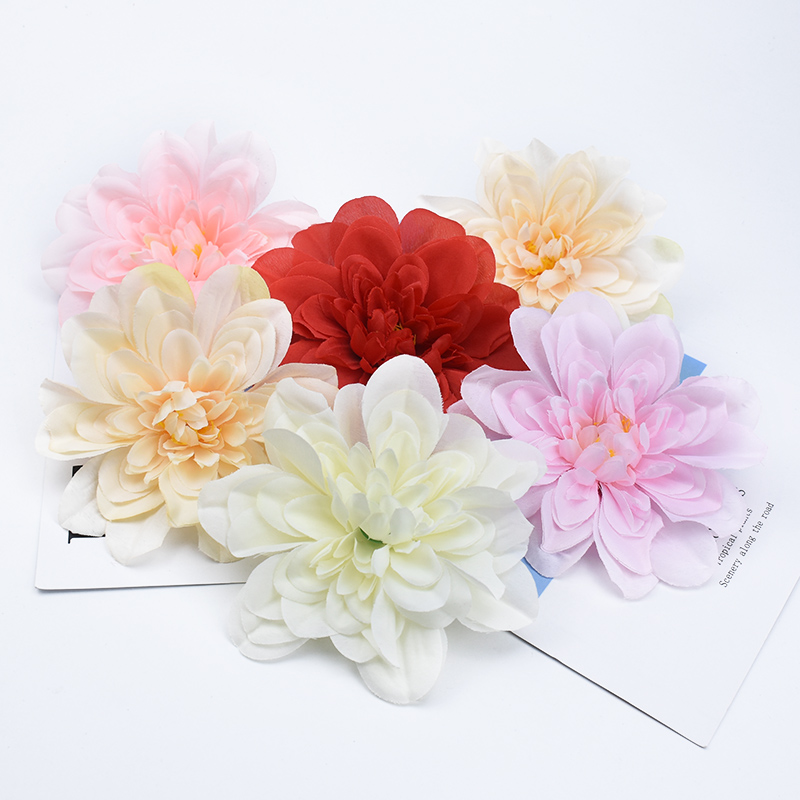50/100 Pieces Silk <font><b>daisy</b></font> artificial <font><b>plants</b></font> home decoration accessories fake <font><b>Gerbera</b></font> cheap Wedding background arch flower wall image