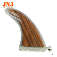 """top selling 8"""" wooden sup fin fcs centre fin stand up paddle board centre fins for padding and surfboard"""