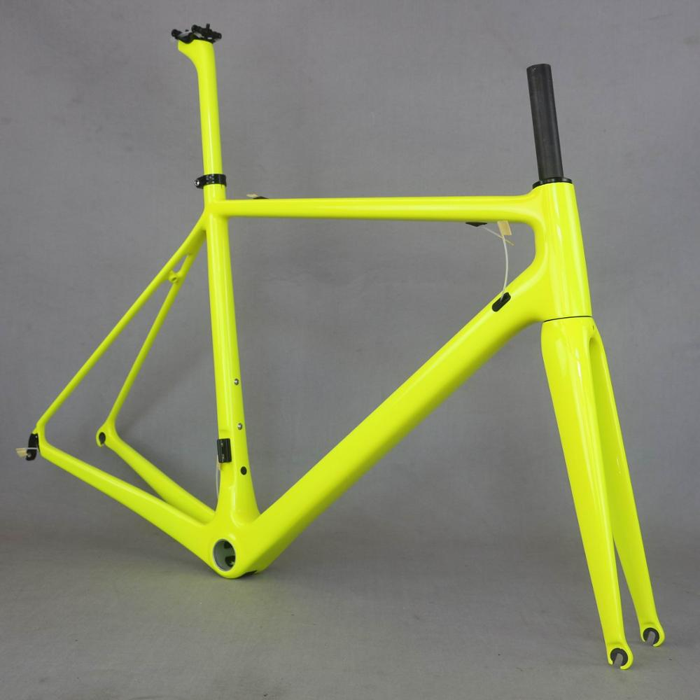 Fm066 Fluorcarbon Frame  New T1000  Full Carbon Fiber Frame,  Fluorescein Color Bike Frame . OEM Many Brand Road Cycling Frame .