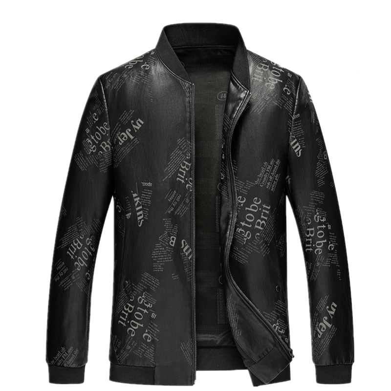2021 New Autumn Korean Youth Men's Clothing Baseball Collar Thin Tide Printed Short High-Quality Coat Leather Jacket Male