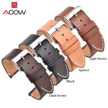 12 14 16 18mm 20mm 22mm 24 Genuine Leather Strap Watchband for Samsung Galaxy Watch Active2 Amazfit Huawei GT 2 Bracelet Band