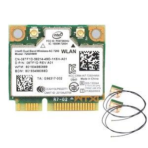 Image 1 - 802.11ac dla Intel 7260 7260HMW wifi + BT Bluetooth 4.0 adapter mini PCI E 867 mb/s 7260AC 7265HMW 8265HMW WiFi karta Wlan