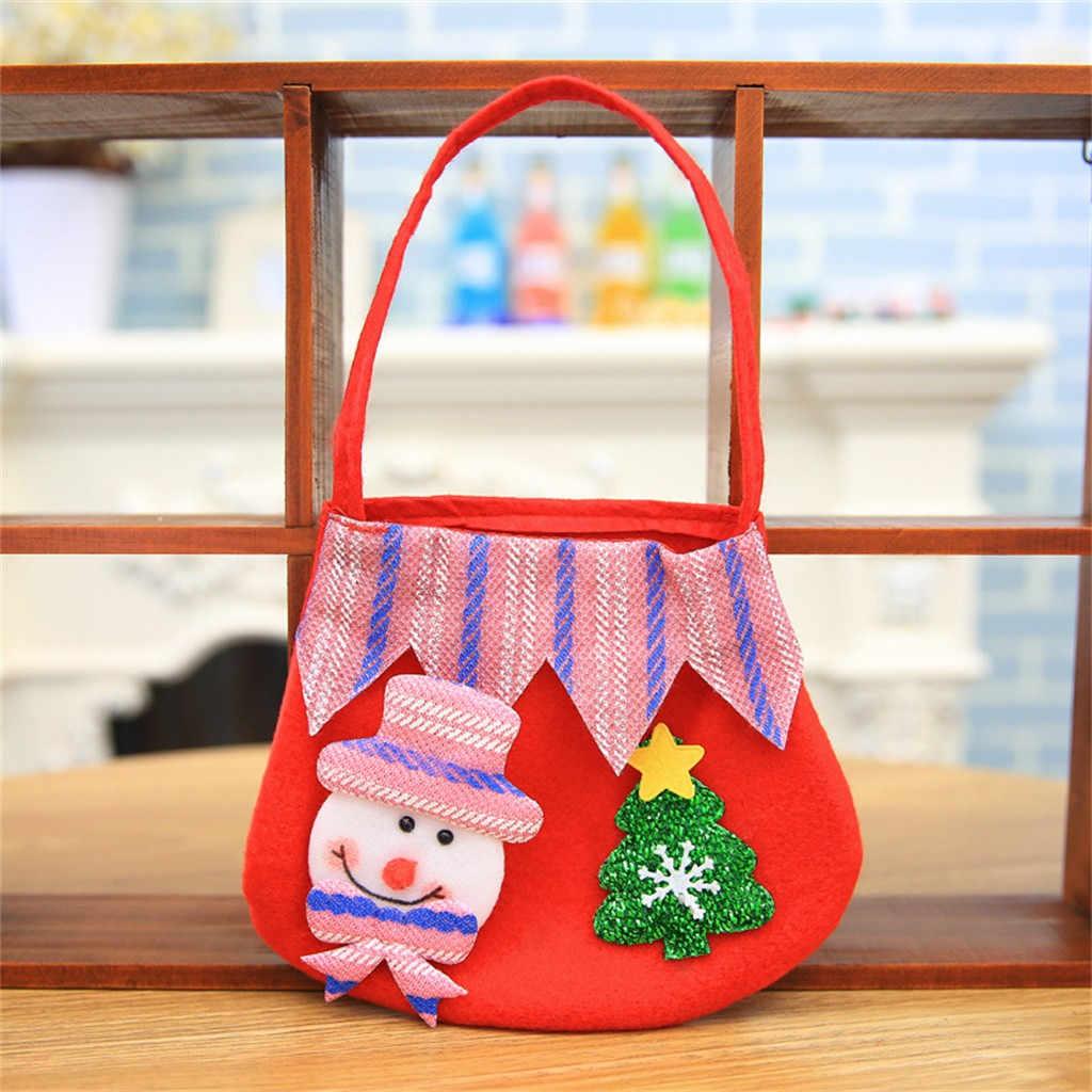 Aelicy niñas monederos bolsos de niños bolso de mano de Navidad de dibujos animados rojos hombre viejo muñeco de nieve bolsa de mano de Navidad