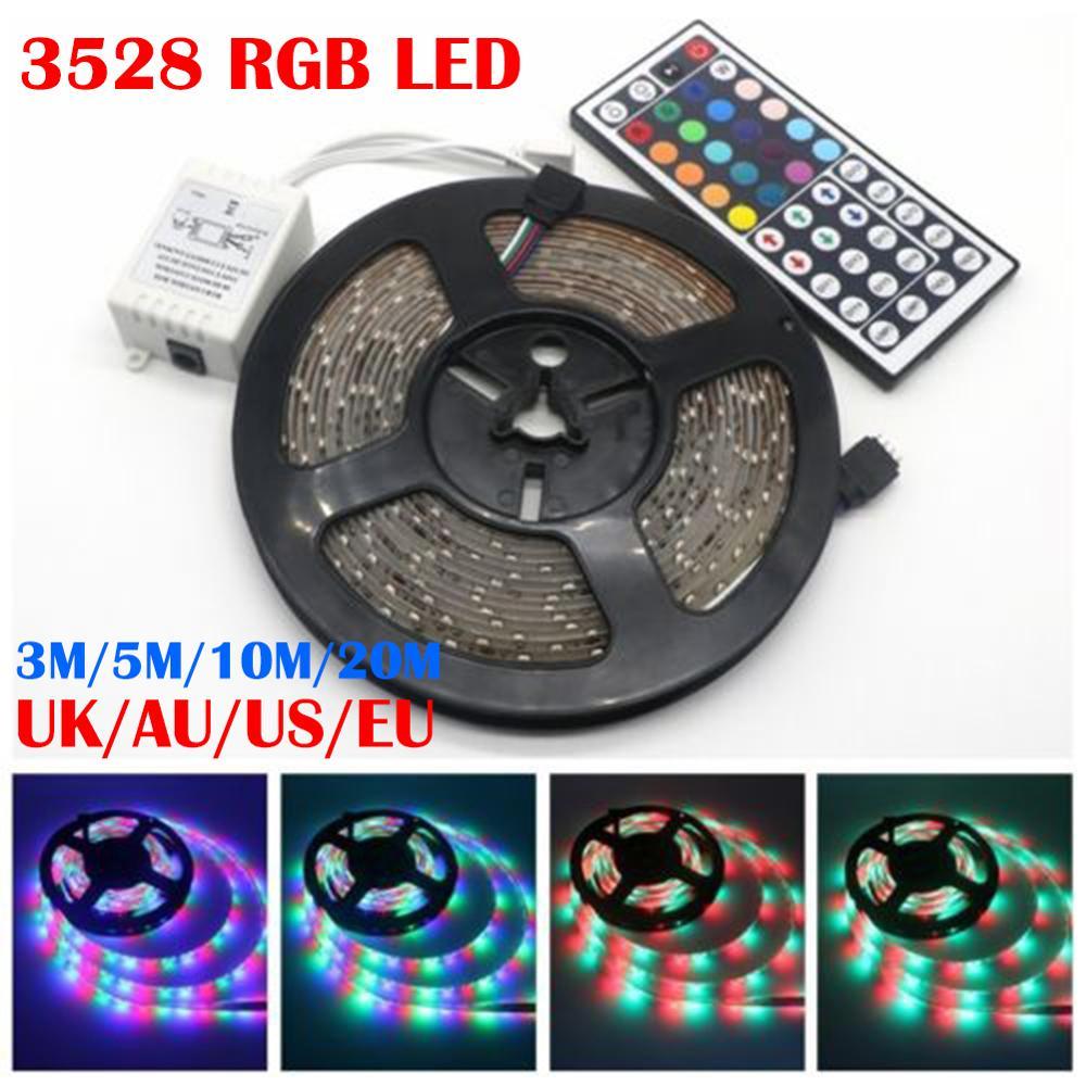 USB LED Strip DC 5V Flexible Light Lamp 60LEDs SMD 3528 3M 5M 10M 20M Mini 3Key Desktop Home Garden Decor Tape TV Background