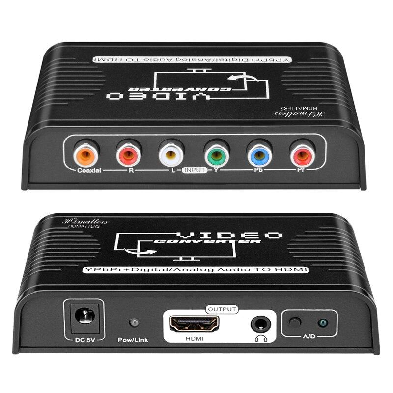 Кабель-преобразователь Ypbpr из компонентов в hdmi, совместимый с hdmi, видео-преобразователь в компоненты RGB для wii PS4 Xbox DVD HDTV