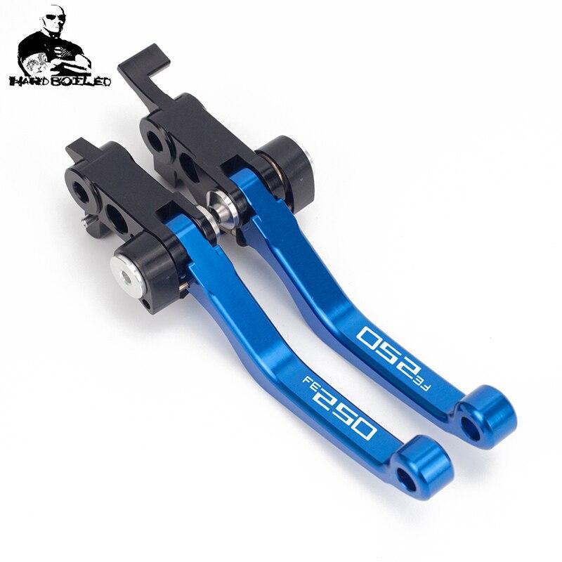 For HUSABERG FE250 FE350 FE450 FE501 2014 Pivot Clutch Brake Levers CNC