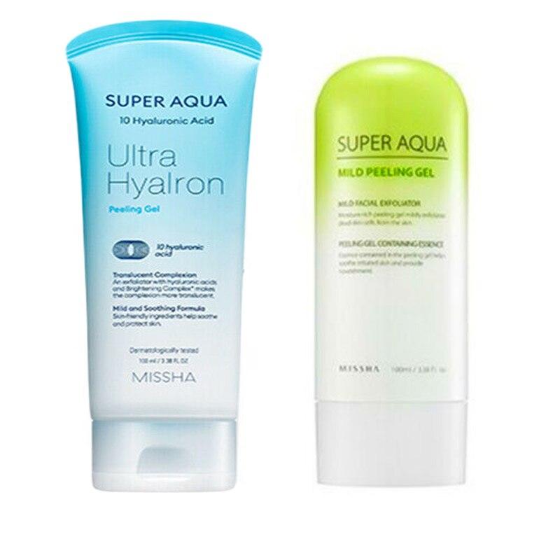 MISSHA Super Aqua Peeling Gel 100ml Facial Cleanser Face Exfoliator Exfoliating Whitening Brightening Skin Care Korea Cosmetics