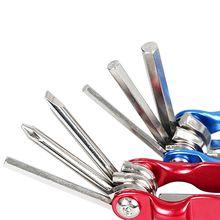 Bicycle Repair Tools Portable 6-in-1 Multi-function Simple 3/4/5/6 Hexagon Tool Screwdriver