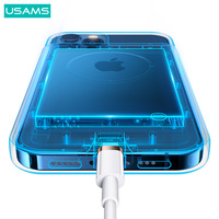 USAMS 4500mAh power bank Charger for iPhone 12 Pro Max External battery  2 in 1 power bank Case for iPhone Xiaomi Huawei Samsung powerbank Charger