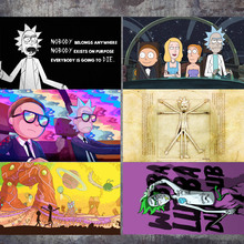 Rick And Morty Dream World Wall Art Canvas Painting Nordic Posters And Prints Kids Wall Pictures For living Room Boy Bedroom платье dream world dream world mp002xw1hhup