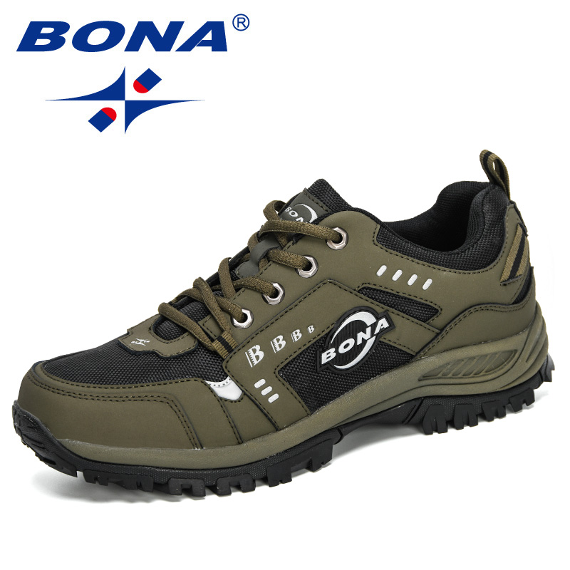BONA 2020 New Designers Nubuck Outdoor Hiking Jogging Sneakers Men Comfortable Walking Sport Shoes Man Basket Zapatillas Hombre