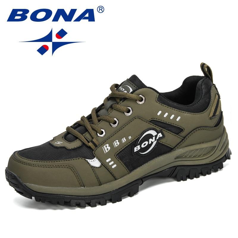 BONA 2020 New Designers Nubuck Outdoor Hiking Jogging Sneakers Men Comfortable Walking Sport Shoes Man Basket Zapatillas Hombre