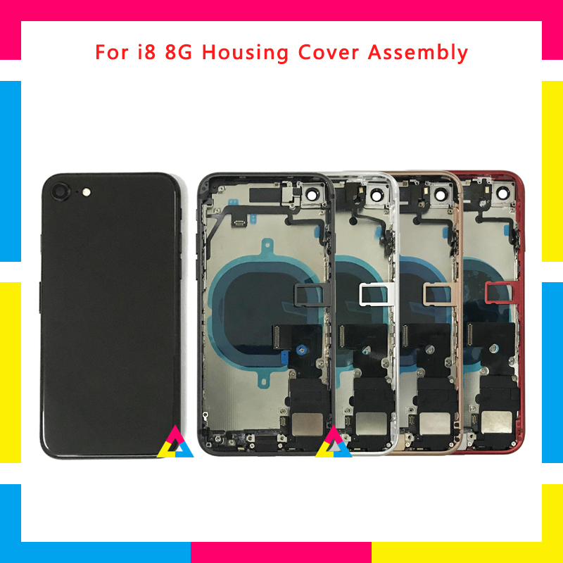 High Quality Full Back Cover Housing Assembly Battery Cover Chassis Frame With Flex Cable For Iphone 8 8G And 8 Plus Or For X