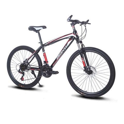 Velocidades de Aço Freio a Disco Adulto Corrente Dobrável Mountain Bike Duplo 26-polegada 21 Não