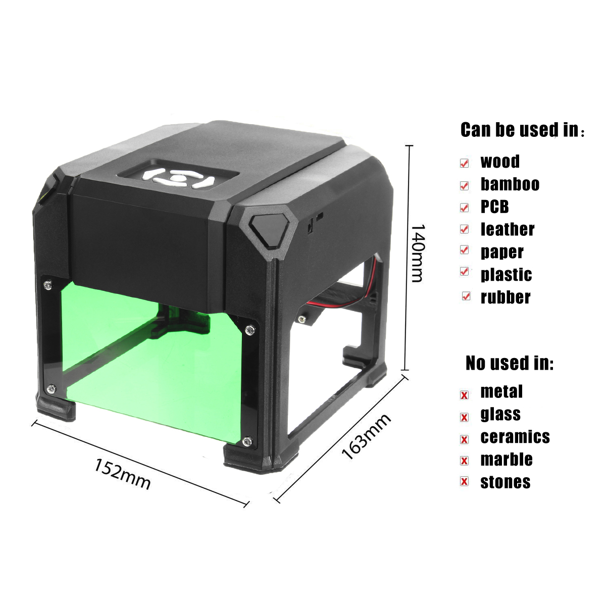 3000mw CNC Bluetooth Laser Marking Machine Made Of ABS And Aluminium Alloy Material 3
