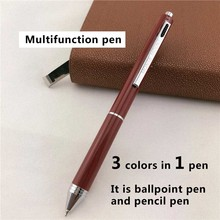 MONTE MOUNT luxury ballpoint pens for writing School Office supplies business gift 3 ink colors in 1 pen 025