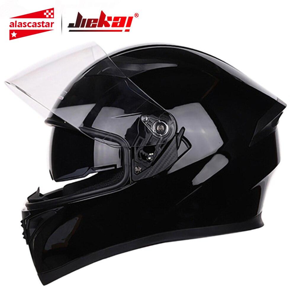 JIEKAI Motorcycle Helmet Full Face Casco Moto Double Visor Racing Black Moto Motocross Helmet Casco Modular Motorbike Capacete