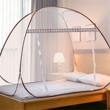 Único-porta mosquiteiro net para os alunos beliche cama malha dossel compensação verão novas crianças mosquiteiro portátil adultos dossel para acampamento