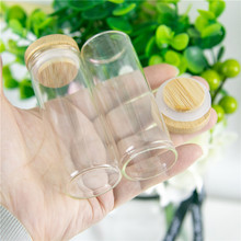 30x80mm 40ml Glass Bottles Bamboo Ornament Box Containers Sand Mini Multipurpose Bamboo Bottles For Lamp Decorations Gifts