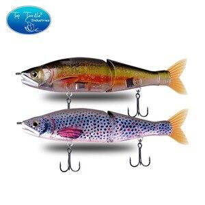 """Image 5 - 148mm 5.8 178mm 7"""" 220mm 8.7 yavaş batan tuzlu su veya yüzen tatlısu büyük bas eklemli yemler Swimbait balıkçılık Lures"""
