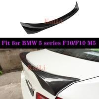Rear Trunk Wings Real Carbon Spoilers For BMW 5 Series Sedan F10 F10 M5 2010-2016