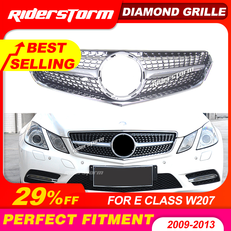 Diamond grill suitable for <font><b>mercedes</b></font> E Class W207 E <font><b>coupe</b></font> c207 prefacelift grille 2010-2013 E200 E260 <font><b>E300</b></font> front bumper grille image