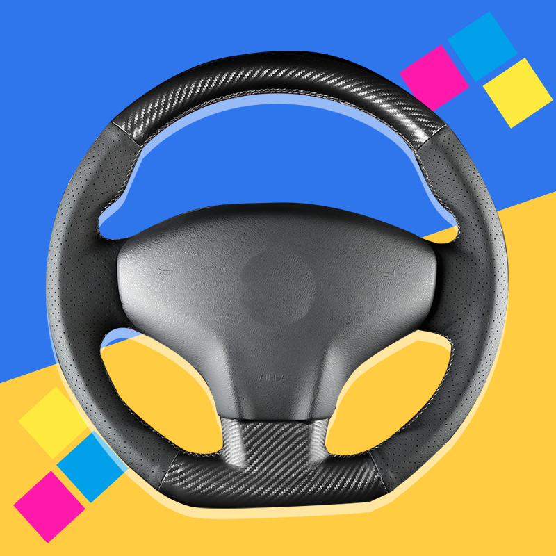 Auto Braid On The <font><b>Steering</b></font> <font><b>Wheel</b></font> Cover for Citroen Elysee C-Elysee 2014 New Elysee <font><b>Peugeot</b></font> <font><b>301</b></font> 2013-2016 Car Covers Car-styling image
