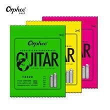 Orphee – cordes pour guitare acoustique, noyau Hexagonal + 8% de nickel, couleur Bronze vif et Extra léger, 1 ensemble, offre spéciale