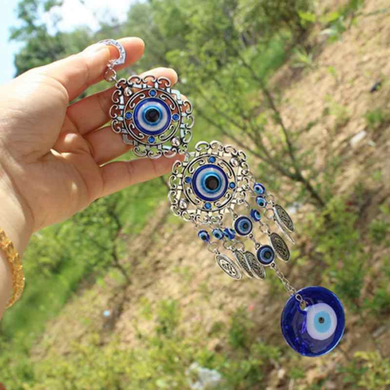 Blue Evil Eye Amulet Protection Turkish Wall Hanging Home Decotation Blessing Gift Lucky Pendant Car Pendant