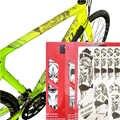 VXM 3D MTB горный велосипед рамка Защита наклейки износостойкий Противоскользящий водонепроницаемый протектор велосипедный Пастер Защитная к...