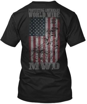 Wojskowy wojna pies K9-ochrona amerykanów na całym świecie T-Shirt bez tagów