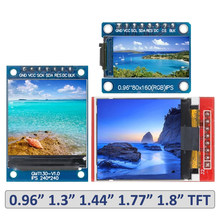 Tft display 0.96/1.3/1.44/1.77/1.8 polegada ips 7p spi hd 65k módulo lcd a cores completas st7735 drive ic 80*160 (não oled) para arduino