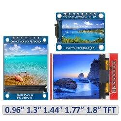 TFT-дисплей 0,96/1,3/1,44/1,77/1,8 дюймов IPS 7P SPI HD 65K полноцветный ЖК-модуль ST7735 Привод IC 80*160 (не OLED) для Arduino