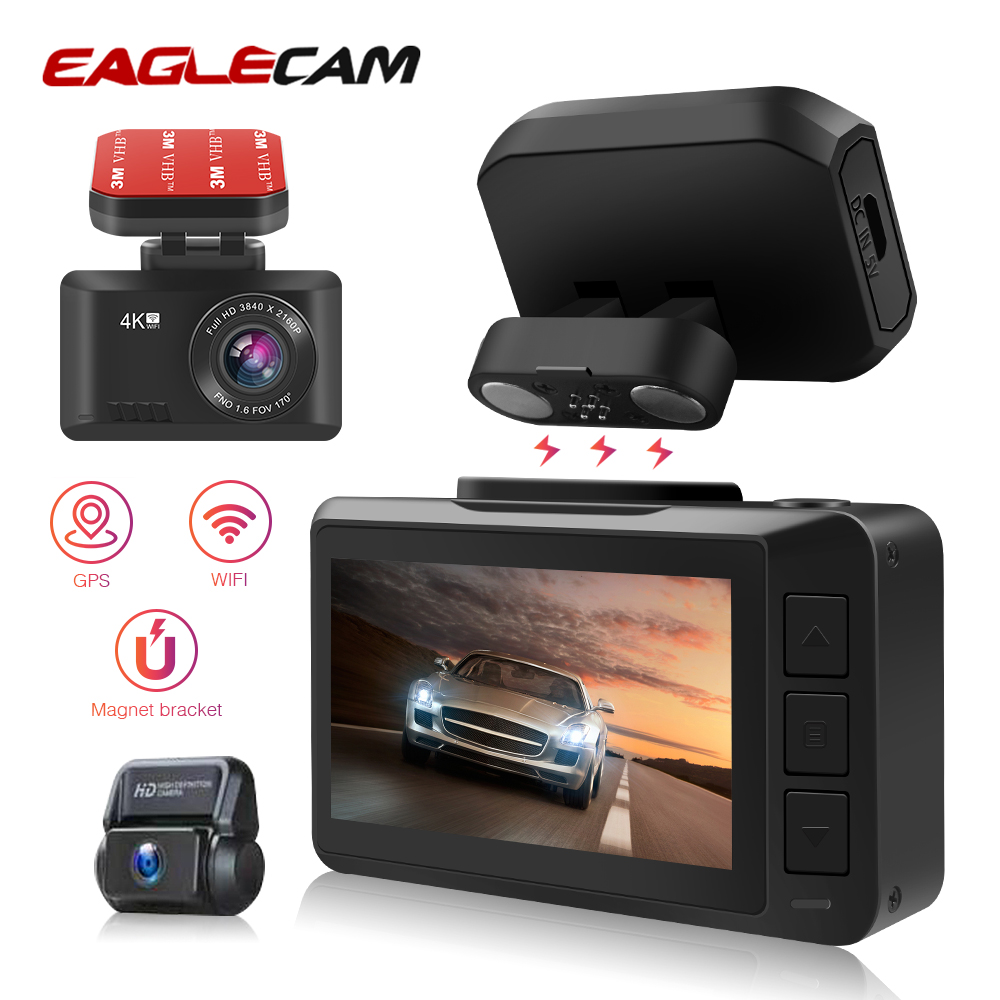 Dash Camera 4K Sony IMX 335 Gesture Photo WiFi Автомобильная камера Dashcam 3840*2160P 30FPS Ultra HD DVR видеорегистратор GPS трекер камера|Видеорегистраторы|   | АлиЭкспресс