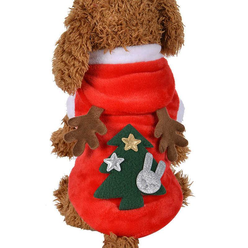 2020 XS-XL 5 Maten Kerst Honden Kleding Winter Jas Kleding Santa Kostuum Hond Kerst Kleding Leuke Puppy Outfit Voor hond