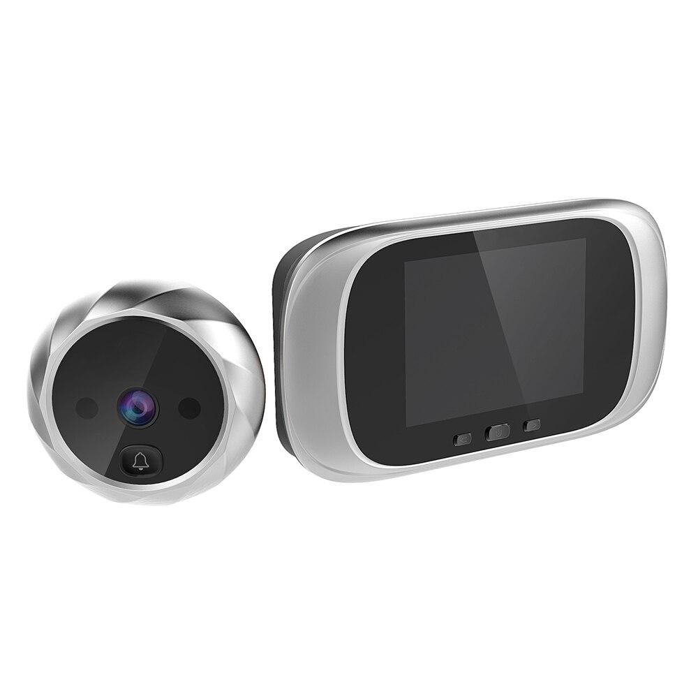2,8 дюймов ЖК цветной экран цифровой дверной звонок 90 градусов дверной глазок дверной звонок Электронный дверной видео Звонок дверной камеры просмотра открытый дверной Звонок