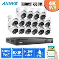 ANNKE 16CH 2MP Ultra FHD POE Netzwerk Video Security System 8MP H.265 NVR Mit 16X 2MP 30m Nachtsicht wasserdicht IP CCTV Kamera