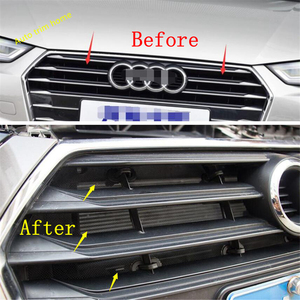 Image 3 - Lapetus Front Insect Screening Mesh Front Grille Protection Net Cover Trim Fit For Audi A4 B9 2016 2017 2018 2019 Auto Accessory