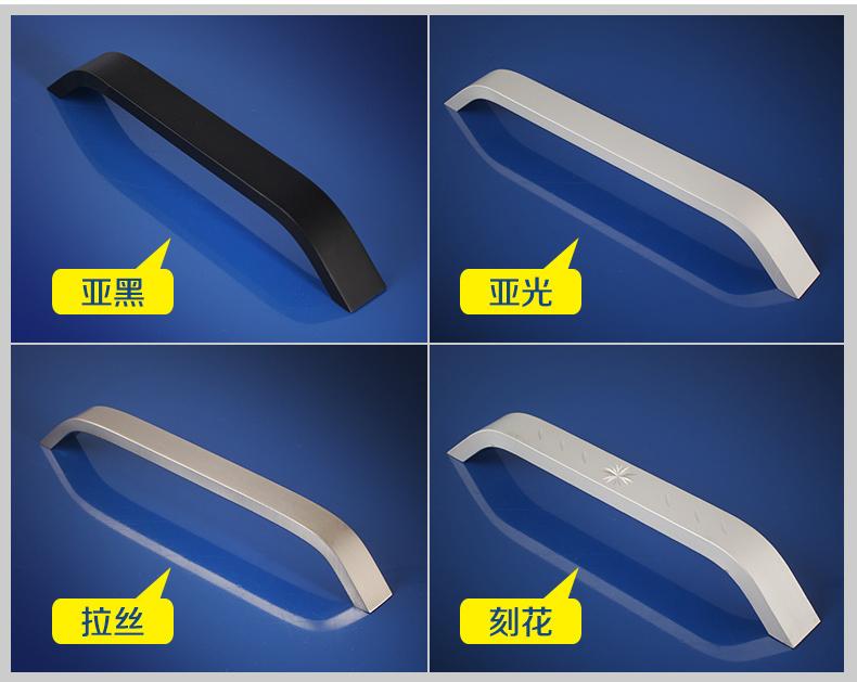 Hf5ddb69fc4fd4fe7b8d5bcde9d7f830dU - Kitchen Cabinet Knobs and Handles Black Furniture Handle for Cabinet Drawer Pulls Hardware 96mm/128mm/160mm/192mm