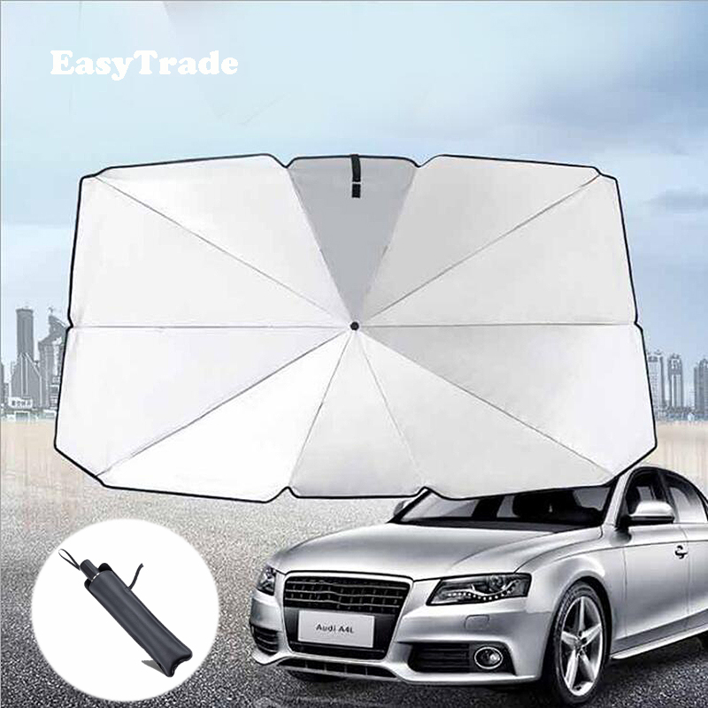 For <font><b>Volvo</b></font> V60 XC90 <font><b>XC60</b></font> S90 S90L V40 S60 XC40 Car Sunshade Front Windshield Parasol Sun Visor Sunscreen UV Heat Insulation Film image